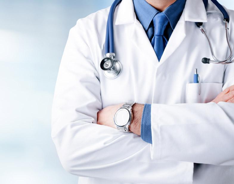 zdjęcie lekarza w fartuchu