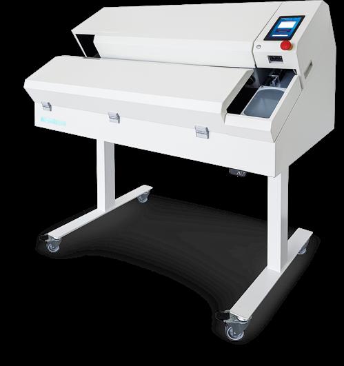 Robot kooperujący do zgrzewania i etykietowania drenów TER 2.0